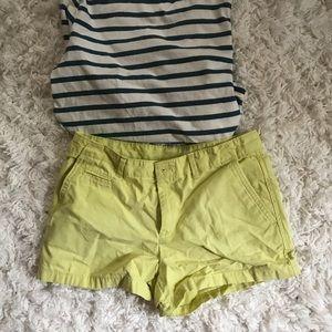 Yellow GAP shorts